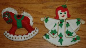 Two of my grandmother's creations, made in her prime.
