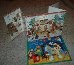 "A couple ""real"" Advent calendars that I've kept over the years."