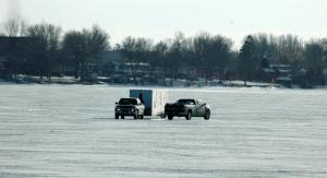 Yes, those are trucks on the ice.